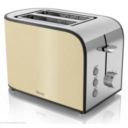 Swan ST17020CREN Townhouse 2 Slice Toaster 800 Watt Cream