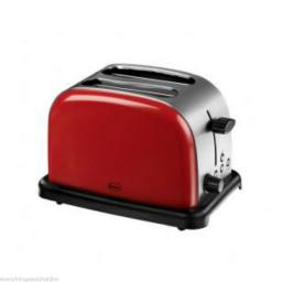 Swan Red Traditional Dome Kettle & 2 Slice Toaster Set