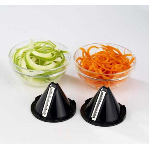 Morphy Richards Electric Spiralizer, 2 blades Sleek Design Perfect Cooking Tool