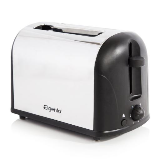Elgento Twin Pack Kettle & Toaster Set Polished Stainless Steel