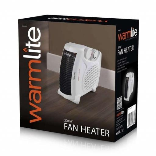 Warmlite White 2000 Watt Flat Fan Heater WL44001