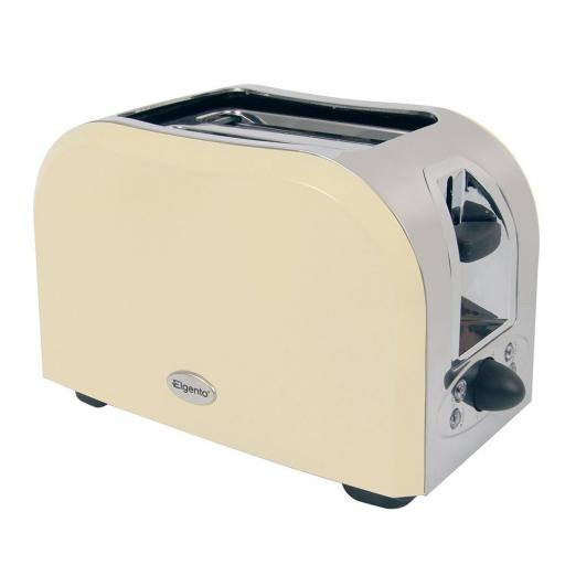 Elgento E449C 2 Slice Toaster Cream Great Kitchen Essential Retro Chic Design