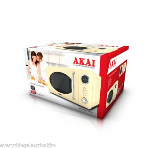 Akai A24006C Digital Microwave 700 Watt 20 Litre Cream