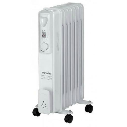 Warmlite WL43003Z 1500W Tall Oil Filled White 7 Fin Radiator