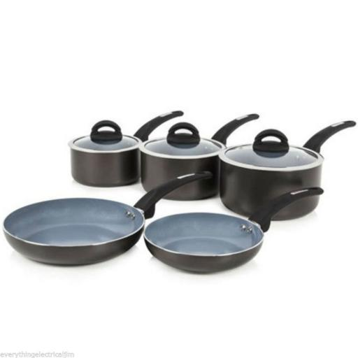 Tower T80303 Cerasure 5 Piece Ceramic Coated Pan Set Graphite