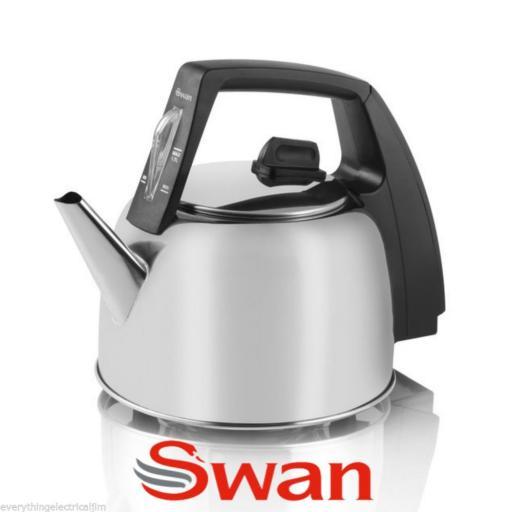 Swan SWK17L Kettle 1.7 Litre 2400 Watt Silver