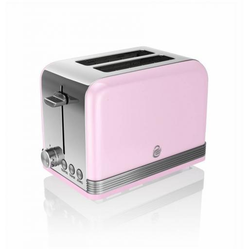 Swan Retro 2 Slice Toaster Pink - ST19010PN
