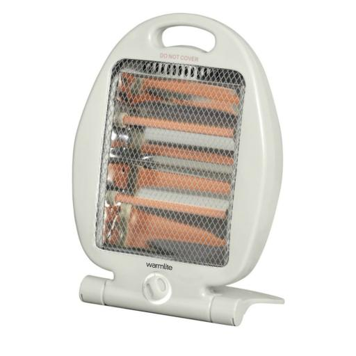Warmlite WL42001 Electric Folding Quartz Heater 800 Watt White