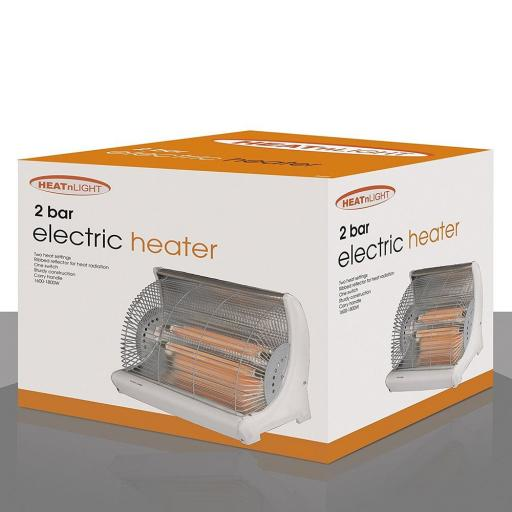 Heat N Light HL02 Two Bar Electric Heater, 1600 -1800 W Ideal for all homes