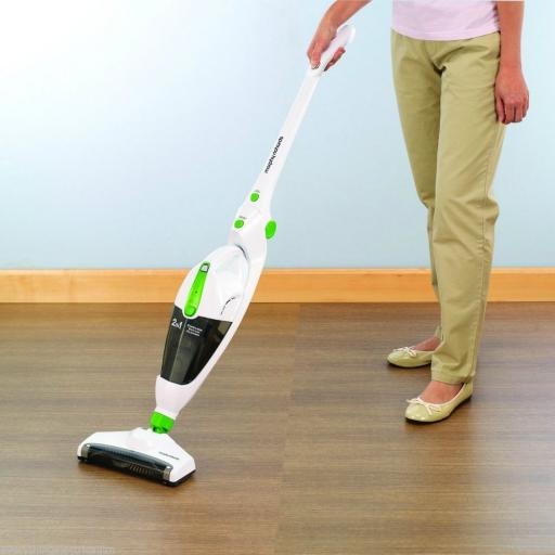 Morphy Richards 731001 2 in 1 Cordless Vacuum Cleaner White/Black/Green