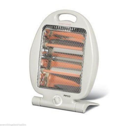 Pifco P42006 Portable Electric Folding Quartz Heater 800 Watt White