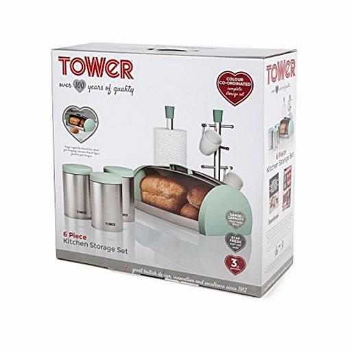 Tower IDT81201 6 Piece Kitchen Storage Set Seafoam