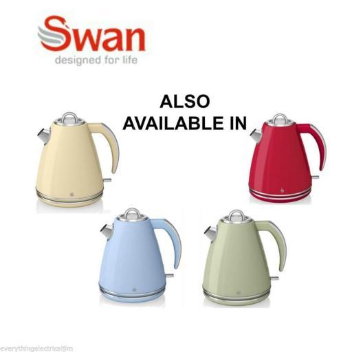 Swan SK24030BN Retro 1.5 Litre Jug Kettle Black