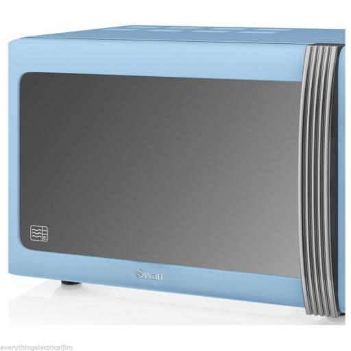 Swan Blue 25 Litre Retro Manual Microwave SM22070BLN