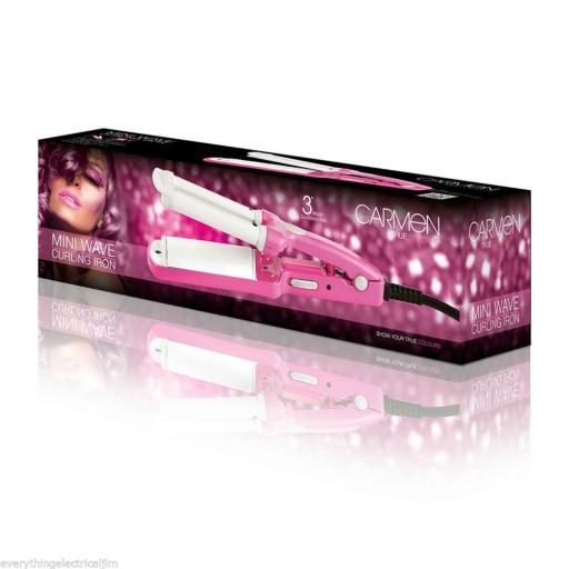 Carmen C81016P Mini Wave Curling Iron Pink