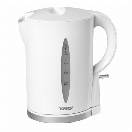 Tower T10011W Jug Kettle With Water Level Indicator 2200W