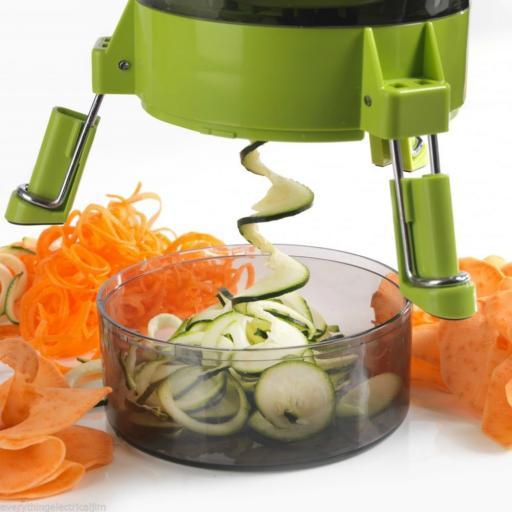 Tower T80410 Spudnik Spiralizer Fruit and Vegetable Slicer Cutter Peeler Green