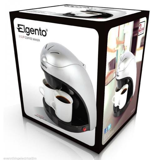 Elgento E10013 Coffee Maker 2-Cup Silver