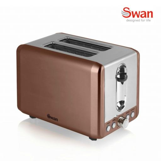 Swan ST14040COPN Copper 2 Slice Toaster
