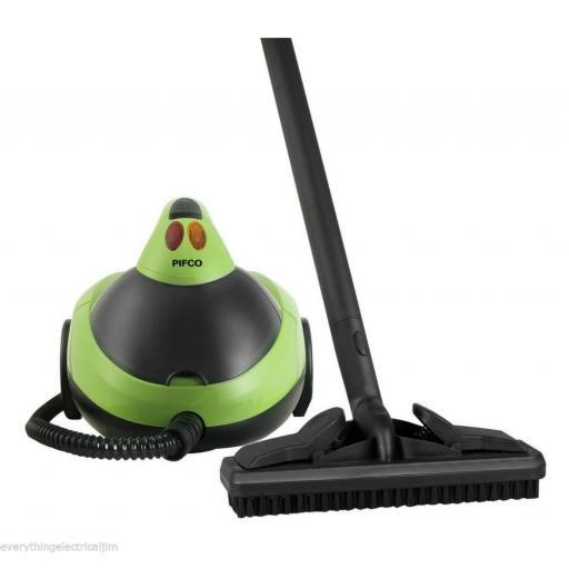 Pifco P29007 Multi Purpose Floor Steam Cleaner 1500 Watt Black/Green