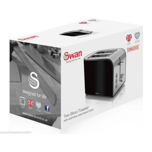 Swan ST17020BLKN Townhouse 2 Slice Toaster 800 Watt Black
