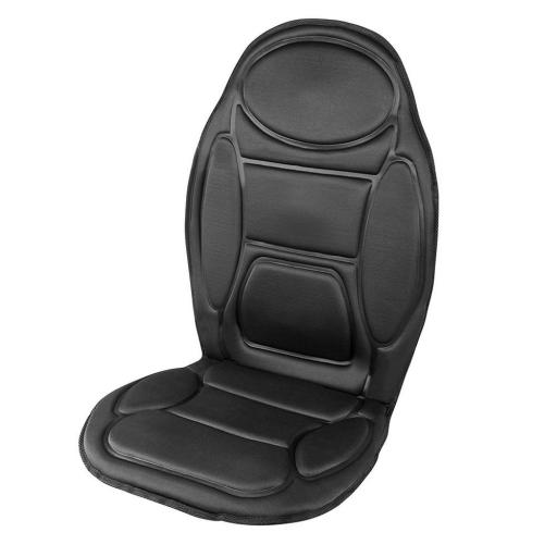 Carmen C90005 Infrared Heated Seat Massager 5 Massage Modes 12V Black
