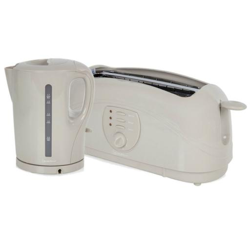 Signature Twin Pack Kettle and 4 Slice Toaster Set in Mushroom