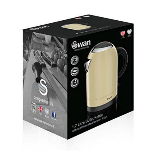 Swan SK29010CREN Bullet Kettle 1.7 Litre Cream