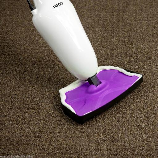 Pifco P29003PU Steam Mop 1500 Watt White/Purple
