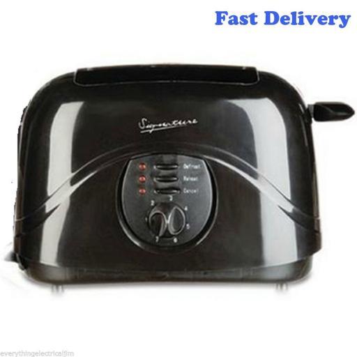 Signature S20004R 2 Slice Toaster 800 Watt Black