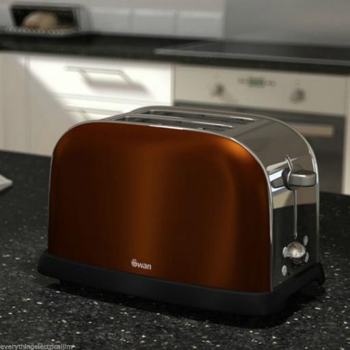 Swan ST16020COPN 2 Slice Toaster Metallic Copper