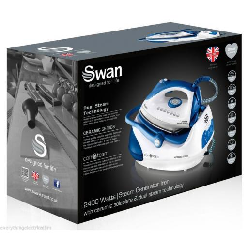 Swan SI9031N Steam Generator Iron 2400 Watt White/Blue