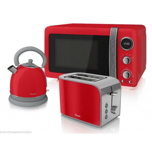 Swan ST17020RN 2 Slice Retro Toaster 800 Watt Red Brand New