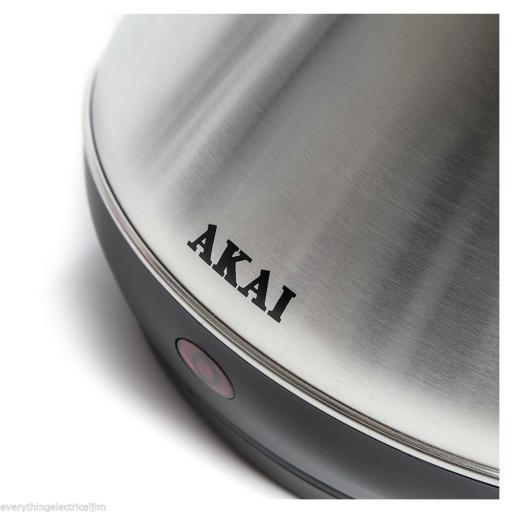 AKAI 3KW Stainless Steel Pyramid Cordless Kettle A10002