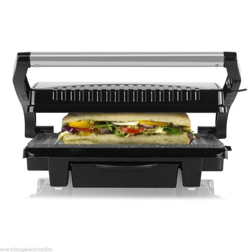 Tower T27009 Ceramic Health Grill and Griddle 1000W Black
