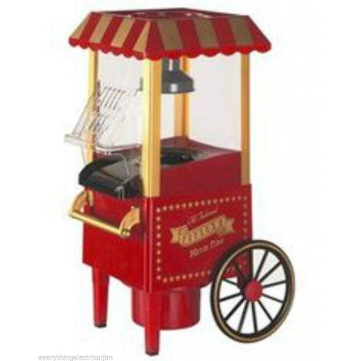 Elgento E26009 Popcorn Cart in Red, Great Summer Fun for Kids and Parties!
