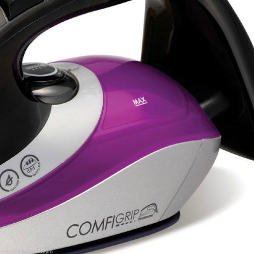 Morphy Richards 301015 Eco ComfiGrip Iron 2600 Watt Black/Pink/Silver