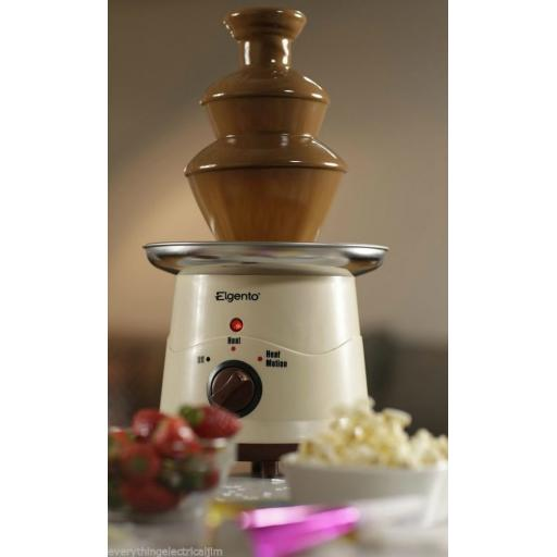 Elgento E26004 Large 3 Tier Chocolate Fountain Cream Great Fun for all!!!