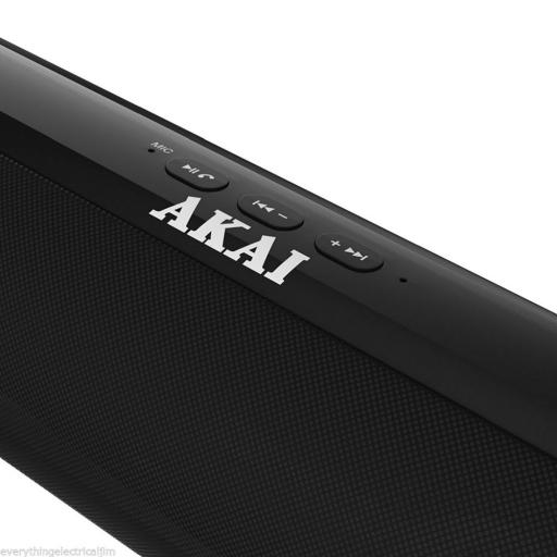 Akai A58037B XL Capsule Portable Bluetooth Speaker BLACK