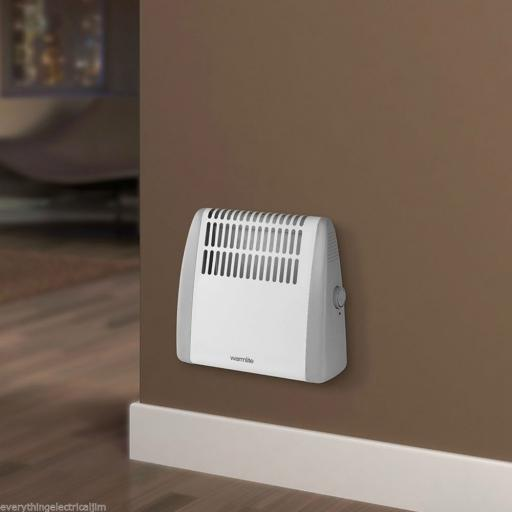 Warmlite WL41003 White Compact Wall Mountable Frost Watcher Heater