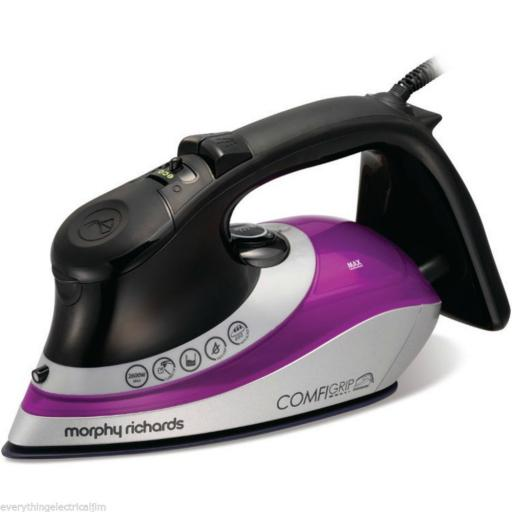 Morphy Richards 301015 Eco ComfiGrip Iron 2600 Watt Black/Pink/Silver