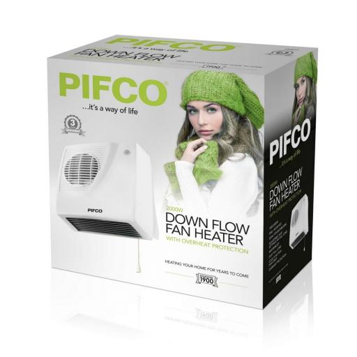 Pifco P44014 Downflow Heater 2000W White