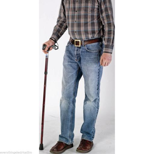 Adjustable Soft Gel Handle Folding Walking Stick 865/1011