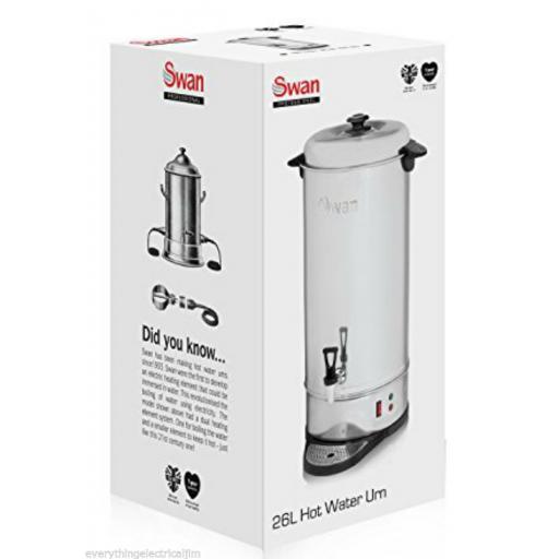 Swan SWU26L Tea Urn 26 Litre Drinks Equipment Stainless Steel Brand New