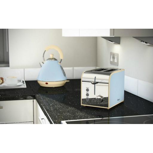 Swan ST17020BLN 2 Slice Vintage Toaster 800 Watt Blue
