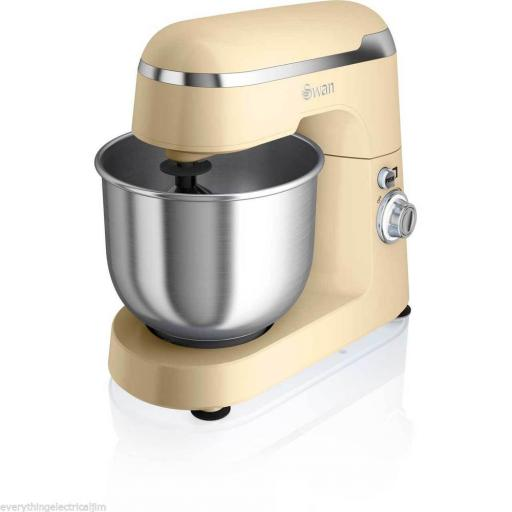 Swan SP25010CN Retro Stand Mixer 600 Watt 4.2 Litre Cream
