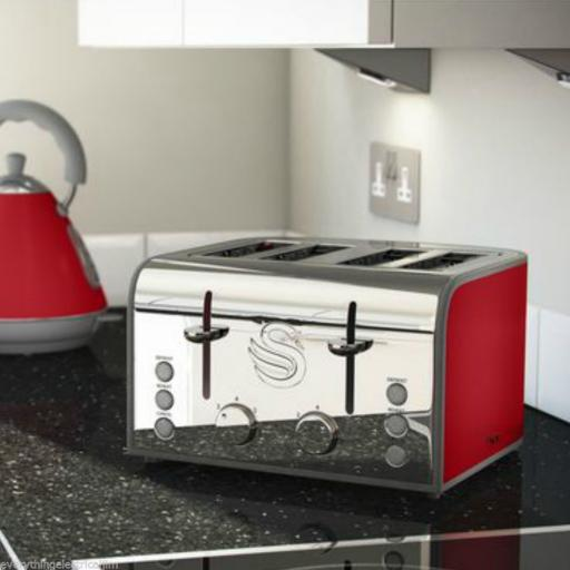 Swan ST17010RN 4 Slice Toaster Red BRAND NEW