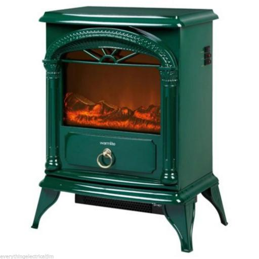 Warmlite WL46014G 1800W Log Effect Stove Fire Green
