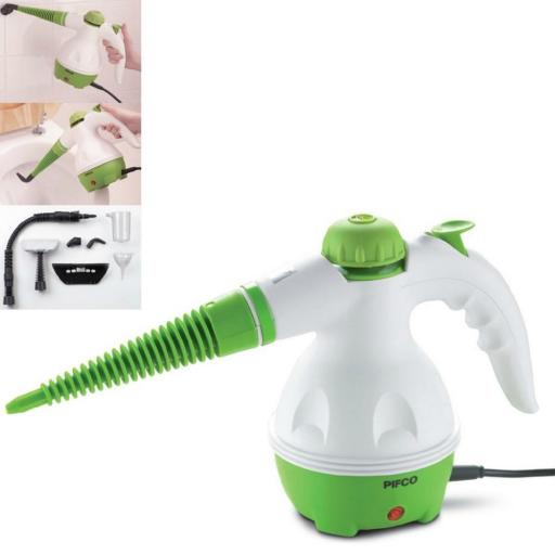 Pifco P29002 Handheld Steam Cleaner 1000 Watt White/Green